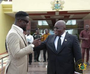 Sarkodie with President Akufo-Addo