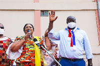 Rebecca Akufo-Addo was in Anyaa-Sowutuom during a campaign tour