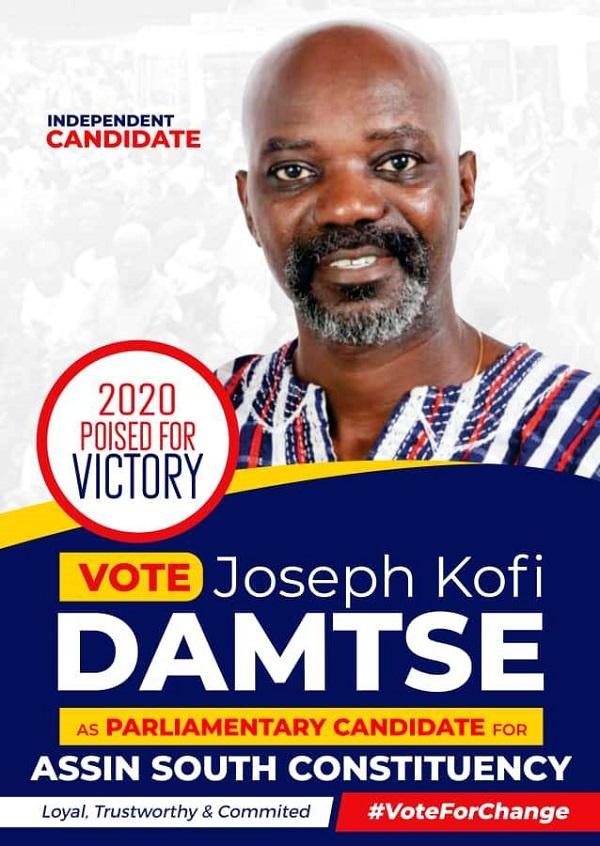 Joseph Kofi Damtse, independent parliamentary hopeful for the Assin South Constituency