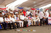 Former President John Kufuor (In hat) at the NPP's National Delegates Conference
