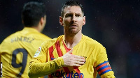 Barcelona captain, Lionel Messi