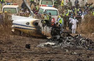 File photo: Plane crash in Nigeria