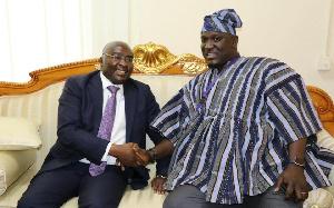 Vice President of Ghana, Dr Mahamudu Bawumia and Deputy Roads Minister, Anthony Abayifaa Karbo