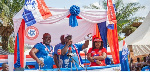 Bice Osei Kuffour (Obour), ex-MUSIGA President speaking during a campaign