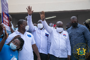 Akufo-Addo and Dr Bawumia at the launch of NPP manifesto