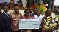 The National Best Teacher, Madam Rita Oppong in the (middle)