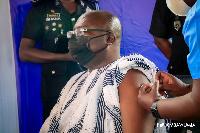 Vice President Bawumia also took his coronavirus jab on Monday
