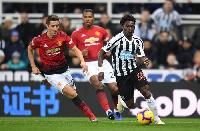 Christian Atsu had a good game against Man Utd