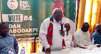 Dan Abodakpi addressing the constituency executives at Tema
