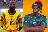 Rapper Kofi Mole and Legendary  Black Stars Captain Abedi Pele