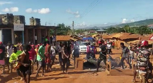 The demonstration took place at Danfa in the Greater Accra Region