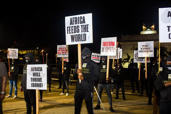 Freedom Movement demonstrated against the discrimination against Africans on Sunday