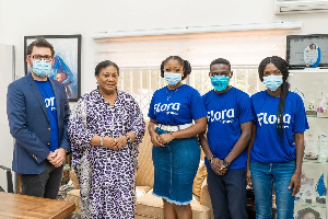 Officials of Delta with First Lady Rebecca Akufo-Addo