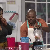 Kwame Dzokoto demonstrates his cooking skills on Dining With.