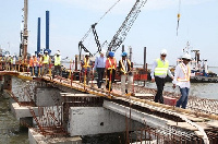 Some contractors at the project site