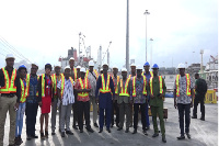 Key players in the trade and finance sector at the Tema harbor.