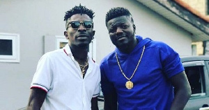 Musician Shatta Wale and Rapper, Pope Skinny