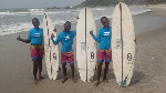 The three young Surfers
