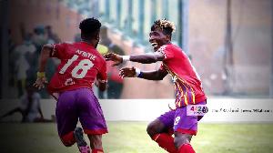 Afriyie Barnieh (18) wheels away to celebrate his goal