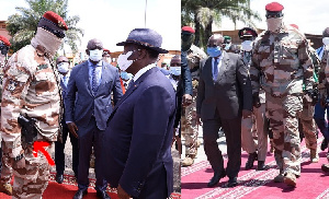 Doumbouya meets Ouattara (left) with receives Akufo-Addo in Conakry
