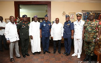 Chief of Defence Staff,and others paid a courtesy call on president-elect Nana AKufo-Addo