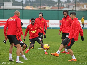 Lumor at training with his mates