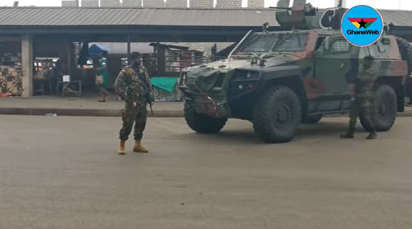 Eyes on the Ground: Police, soldiers double surveillance efforts on Day 3 of lockdown at Kasoa