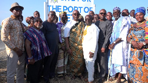 A group picture of the Board of Directors, Chiefs and the Administrative heads of Keta