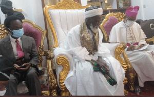 Apostle Prof Onyinah, National Chief Imam, Sheikh  Archbishop Sharubutu and Charles G. Palmer-Buckle