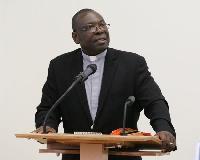 Right Reverend Dr Seth Senyo Agidi is Moderator of E. P. Church, Ghana
