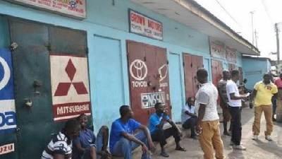 The protest was to press  Ghanaian authorities to reopen their shops