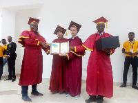 Alfred Korlie Matey, CEO of Freddies Corner receiving his doctorate degree
