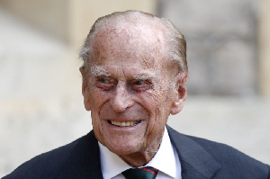 The late Prince Philip with his wife Queen Elizabeth