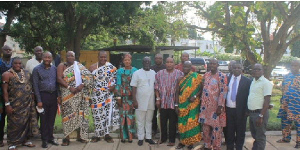 Members of the Minerals Commission and the Ada Traditional Council in a photo
