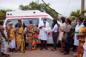 Officials of the hospital receiving the ambulance