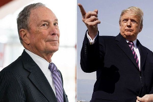 Mike Bloomberg and Donald Trump