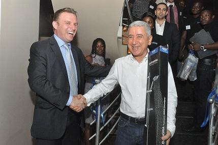 General Manager of Hailflow, Karim Ghazele (left)
