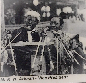 Mr K.N Arkaah served as Vice President to Former President Jerry John Rawlings