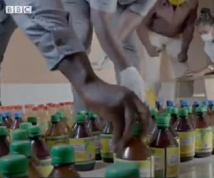 A scene from the investigative piece by Anas Aremeyaw Anas