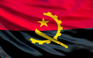 The flag of Angola
