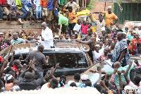 Nana Akufo-Addo, NPP flagbearer and Dr Bawumia on campaign