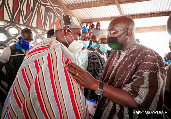 Vice President Bawumia is in the Upper East Region for a three-day tour.
