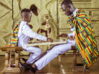 Okyeame Kwame and his son