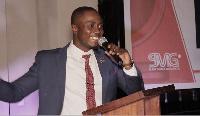 General Manager of Ruff Money Records, Edwin Elikem Amenyao addressing the audience
