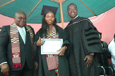 President Nana Akufo-Addo spoke at the University's graduation ceremony