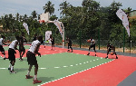 The new basketball court given to the people of Prestea