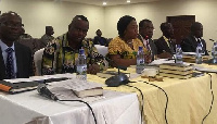 File Photo: Some KTU officials before the Public Accounts Committee