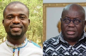 Investigative Journalist, Manasseh Awuni Azure and President Nana Addo Dankwa Akufo-Addo