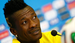 Legon Cities attacker Asamoah Gyan