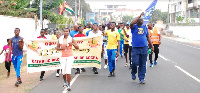 The walk is part of activities lined up for the 125th anniversary of the Catholic Mission in Accra